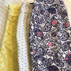 Lot of 3 Ann Taylor Skirts